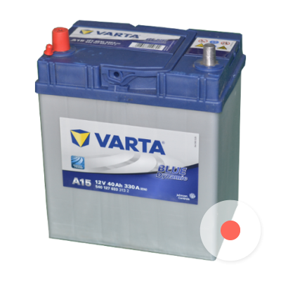 Varta BD 6CT-40 (A15) тонк. кл. (п.п.) яп.ст. [д187ш127в227/330]   [B19]  Y16